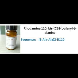 Rhodamine 110, bis-(CBZ-L-alanyl-L-alanine amide)