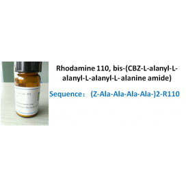 Rhodamine 110, bis-(CBZ-L-alanyl-L-alanyl-L-alanyl-L- alanine amide)