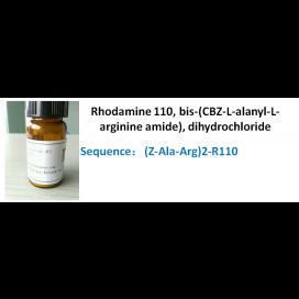 Rhodamine 110, bis-(CBZ-L-alanyl-L-arginine amide), dihydrochloride