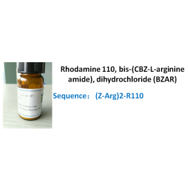 Rhodamine 110, bis-(CBZ-L-arginine amide), dihydrochloride (BZAR)