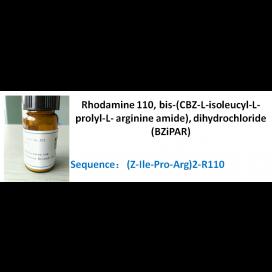 Rhodamine 110, bis-(CBZ-L-isoleucyl-L-prolyl-L- arginine amide), dihydrochloride (BZiPAR)